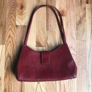 Red Leather Fossil Handbag